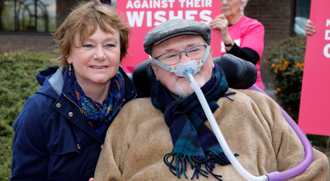 Picture of Noel Conway and his wife Carol