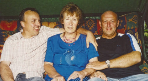 Peter and Andy Squires with their mum